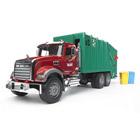 Camion poubelle Mack et 2 poubelles