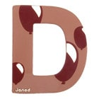 Lettre décorative en bois -D