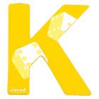 Lettre décorative en bois -K
