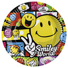 8 Assiettes Smiley Comic