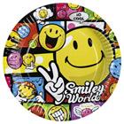 8 Assiettes Smiley Comic