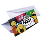 6 cartons d'invitation + enveloppes Smiley
