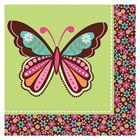 Serviettes Hippie Chick Papillon