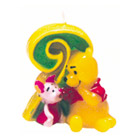 Bougie Winnie et Porcinet Chiffre 2