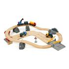 Circuit rail route transport de roches