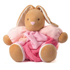Patapouf lapin patchwork Plume rose