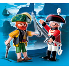 4127-Duo Pirate et soldat anglais