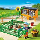 5123-Enclos à lapins et enfant