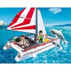 5130-Catamaran et dauphins