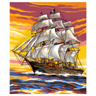 Peinture N° enfant Bateau Pirate