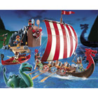 5003-Drakkar et camp des Vikings Playmobil