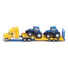 Camion avec 2 tracteurs New Holland
