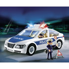 5184-Voiture de police avec lumières clignotantes
