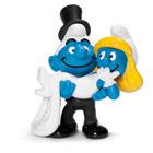 Couple de Schtroumpfs se mariant