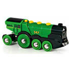 Brio-Locomotive puissante verte à piles