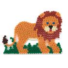 Plaque pour perles à repasser lion