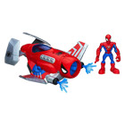 Figurine Spiderman 12,5 cm et son Spider Jet