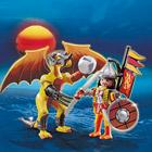 5462-Dragon de pierre avec guerrier - Playmobil