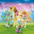 5442-Fée Jardinière avec Licorne Fleur