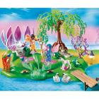5444-Ile des fées avec fontaine de pierres précieuses
