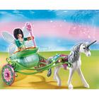5446-Fée Papillon avec calèche et licorne