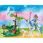 5450-Fée Aquarella avec licornes