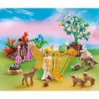5451-Fée Mélodie avec animaux de la forêt