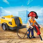 5472-Ouvrier avec marteau piqueur Playmobil