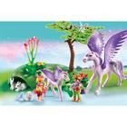 5478-Enfants royaux avec cheval ailé et son bébé