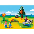 6788-Famille avec animaux de la prairie