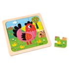 Puzzle poule Violette 9 pièces