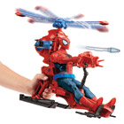 Spiderman Figurine 30 cm + hélicoptère