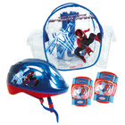 Set 2 Protections et Casque Spiderman