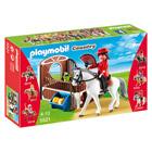 5521-Cheval Warmblood et cavalière