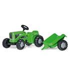 Tracteur Rolly Kiddy Futura avec remorque