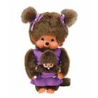 Monchhichi Maman et Bébé Violet