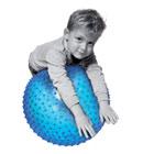 Ballon de motricité bleu