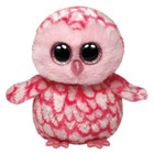 Peluche Boo's Pinky Hibou Rose