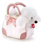 Peluche Caniche dans sac blanc 20 cm