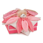 Doudou collector Lapin rose 28 cm