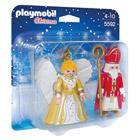 5592-Saint Nicolas et ange doré