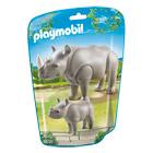 6638-Rhinocéros et son petit