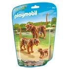 6645-Couple de tigres avec bébés