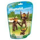 6650-Couple de chimpanzés avec bébé