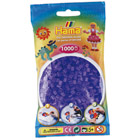 Sachet de 1000 perles à repasser lila transparent