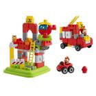Baril Pompiers 70 pièces