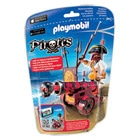 6163-Pirate avec Canon Rouge - Playmobil