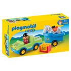 6958-Véhicule avec remorque à cheval - Playmobil 1.2.3
