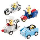Minions-Set 4 figurines avec véhicule en métal
