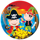 8 Assiettes Pirates